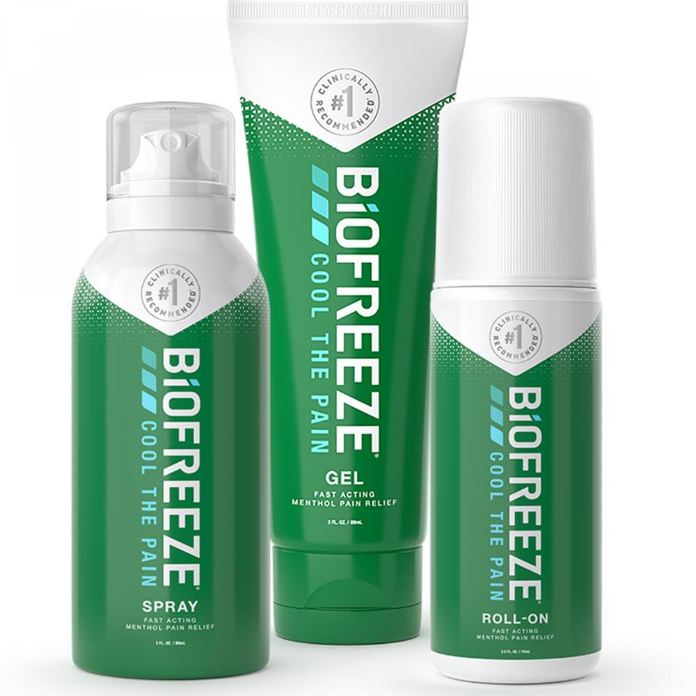 美国 BIOFREEZE 碧冰 舒缓痛运动修复喷雾小绿管关节拉伤